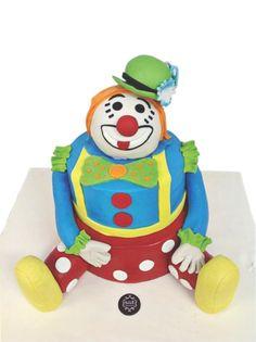Clown 3D Birthday Cake 'Sale Sucre Patisserie'