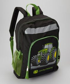 Take a look at this Black & Green Tractor Backpack by John Deere on #zulily today!