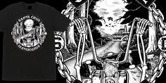 """Santa Cruz - Sleazy Rider"" t-shirt design by PitchGrim"