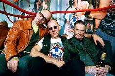 MC5 in London – from left to right: Wayne Kramer, Dennis Thompson and Michael Davis.