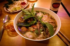 Pho   This traditional Vietnamese soup is common place in Paris. We recommend going to Chez Yu on Rue de Belleville in the 11th Arrondissement.