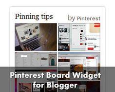 Pinterest Board Widget for Blogger