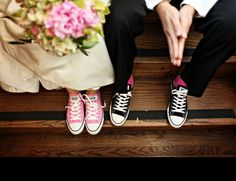 d61acdae8fde Wedding Chucks--we love a converse wedding picture at The QW!