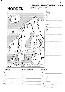 Glumpans bästa: Blindkarta Norden