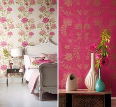 wall designs | ... wall ideas, red and white themed walls, bedroom wall designs