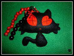 chaveiro gatinho by Simo www.criandoeinovando.elo7.com.br, via Flickr