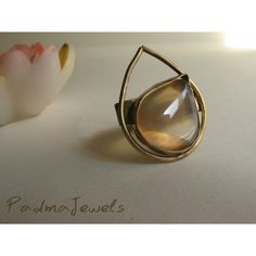 Goccia| Brass Ring | agathe rings | handmade by Padma Jewels