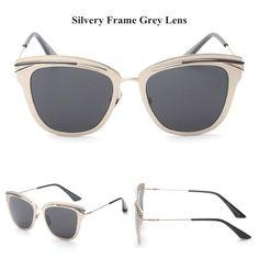 Item Type: Eyewear Eyewear Type: Sunglasses Department Name: Adult Gender: Women Style: Cat Eye Lenses Optical Attribute: Mirror Frame Material: Alloy Frame Color: Multi Lens Width: 5.2 cm Lens Height