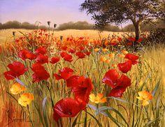 Mary Dipnall | Poppies I | Detail | Rosenstiel's