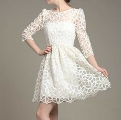 Long-sleeved lace dress ADADBD
