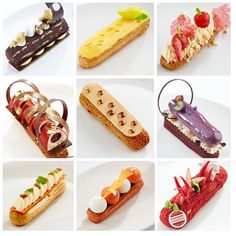 Some of the 26 amazing éclairs we had the chance to taste today thank you to all the candidates! @savourpatissieroftheyear @jordi_bordas @frankhaasnoot @paulkennedysavour #pastry #judging #savourcomp #sydney