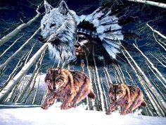 lobo indio espíritu fondo de pantalla