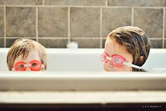 goggles + bathtub
