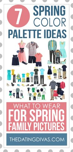 What to Wear for Spring Family Pictures 50 Tips and Ideas for Easter photos and spring photography! We've got lots of inspiration from prop ideas to what to wear for your spring family pictures. Spring Family Pictures, Family Pictures What To Wear, Spring Photos, Family Pics, Easter Pictures, Family Posing, Family Picture Colors, Family Picture Outfits, Picture Ideas