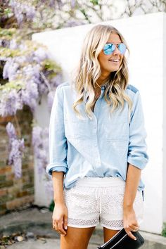 White Shorts styled by Elle Ferguson from theyallhateus.
