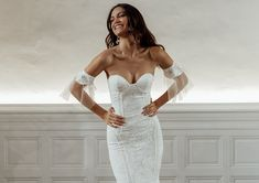 The Honey wedding dress oozes sophistication. A luxurious double-layered Crepe de Chine silk gown,. Shop online or book a bridal showroom appointment today! Lace Bride, Lace Wedding, Gown Wedding, Mermaid Wedding, Rose Gown, Grace Loves Lace, Silk Gown, Bridesmaid Dresses, Wedding Dresses
