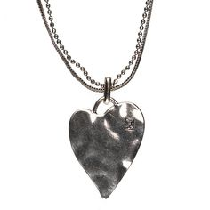 Hultquist Classic Pure at Heart Silver Plated Large Hammered Heart Necklace | lizzielane.co.uk. http://www.lizzielane.co.uk/shop/hultquist-classic-pure-at-heart-silver-plated-large-hammered-heart-necklace £41