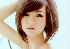 Angled Bob with Side Bangs | 46 Enticing Short Bob Hairstyles For 2013 | Creative Fan
