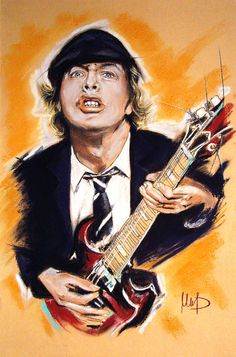 Angus Young Art Print by Melanie D