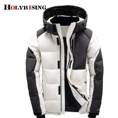 e479ebd178d Asesmay Men Winter Jacket White Duck Down Parka High Quality Winter Coats  Hooded Goose Feather Men s Down Jacket Thick Snow Coat. Doudoune HommeVeste  ...