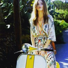 etro_official - Get a break from the city & take a ride in the 70's! #ETRO #ETROWoman #FreeSpirit #Bohemian @yodona @vespa_ind #vespa #yodona #sexygirl #cute #ootd #outfitoftheday #lookoftheday #likeforfollow #fashion #fashiongram #style #love #beautiful #lookbook #wiwt #outfit #wiw #mylook #fashionista #instastyle #LikesForFollow #instafashion #outfitpost #fashionpost #fashiondiaries #contreboutiques  Shop at www.contre.it