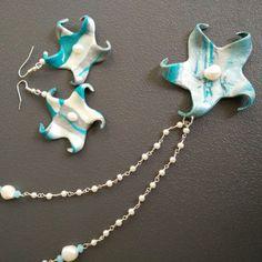 Collezione STELLA MARIS splendide  collane, bracciali, orecchini e anelli realizzati a mano in unici esemplari con argille polimeriche impreziosite da perle naturali, turchesi e cristalli!! Scoprili nel mio ETSY SHOP!!