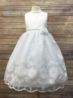Satin With Organza Embroidered Skirt