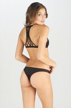 2014 MIKOH SWIMWEAR Maui Top in Night bikini fashion, springsumm 14, style inspir, polka dot, yellow polka, dot bikini