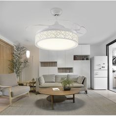 42inch ceiling chandelier fan light simple modern bedroom living room dining room fan lamp ceiling chandelier fan remote control