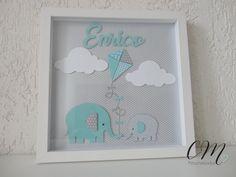 Elefantes com Pipa #scrapbook #quadroinfantil #cadamomentopersonalizados #quadrobebê #portamaternidade Baby Crafts, Fun Crafts, Diy And Crafts, Box Frame Art, Box Frames, Shadow Frame, Shadow Box, Crochet For Kids, Crochet Ideas