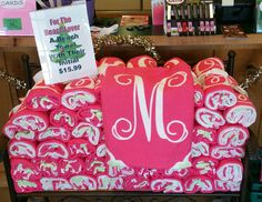Here's a neat gift idea. A beach towel with their initial. #cohuttacountrystore