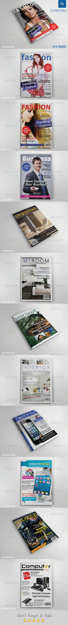 Magazine Cover PSD Templates | Vol.2  • Only available here ➝ http://graphicriver.net/item/magazine-cover-templates-vol2/7541664?ref=pxcr