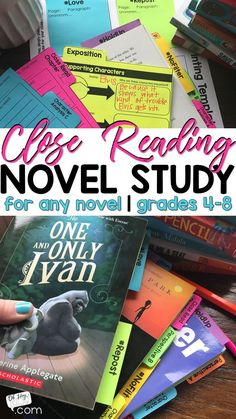 Novel Study for middle school students. 4th Grade Books, 4th Grade Ela, 6th Grade Reading, Middle School Reading, Middle School English, Middle School Novels, Teaching 5th Grade, Reading Workshop, Reading Skills