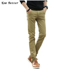 a6fb83fb9819 mens fashion 2017 Pantalones Mens Dress Pants Casual Fashion Khaki Joggers Men  Skinny Fit Pants Wool Pants Straight Long Trousers Size38 -- AliExpress ...