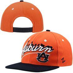 best service 0c695 61d90 Zephyr Auburn Tigers Shadow Script Snapback Hat - Orange Navy Blue. College  Football, Auburn Tigers, Snapback Hats ...