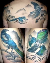 Bilderesultat for magpie tattoos