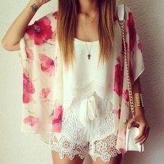 apparently this is called a kimono? Love the watercolor design. -Kels