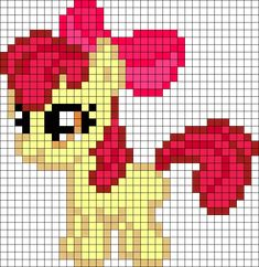 Apple Bloom My Little Pony perler bead pattern