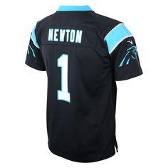 Carolina Panthers Toddler Nike Cam Newton  1 Black Game Jersey bba082195