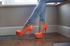 Orange #pumps