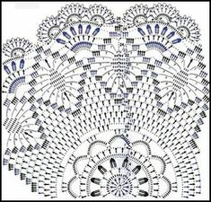 Captivating All About Crochet Ideas. Awe Inspiring All About Crochet Ideas. Free Crochet Doily Patterns, Crochet Doily Diagram, Crochet Chart, Crochet Motif, Filet Crochet, Thread Crochet, Crochet Stitches, Crochet Home, Crochet Baby