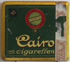 Finnish Tobacco Tins, Smoking, Retro, Antiques, Vintage, 1950s, Cigars, Branding, Historia