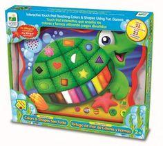 Esta tortuguita ayuda a los pequeñines a aprender colores y formas geométricas. www.lacasadelaeducadora.com