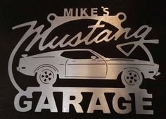 Ford Mustang Mach 1 Fastback / ANY Name On Top 72 73 / Gen generation Mustang / Ford art Black Mustang, Mustang Mach 1, Ford Mustang Logo, Metal Garages, Ford Tractors, Garage Signs, Retro Logos, Welding Art, Scroll Saw Patterns