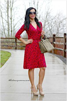 Leota Reye Jersey Faux Wrap Dress ... dress, bag, shoes... yes please!!!