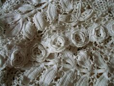 lace crochet roses and leaves