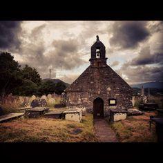 Graveyard where my granddad is buried. Perfect location, creepy church!