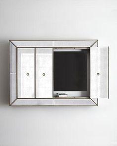mirrored wall cabinet. Murano Flat-Screen Wall Cabinet Mirrored R