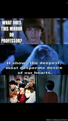 Lol! I love this! I love Harry Potter and I love BTS, so this is just perfect.