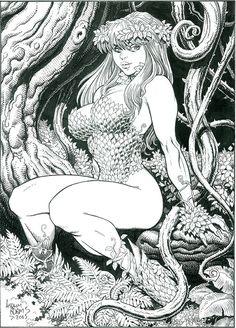 Poison Ivy ~ Art by Arthur Adams